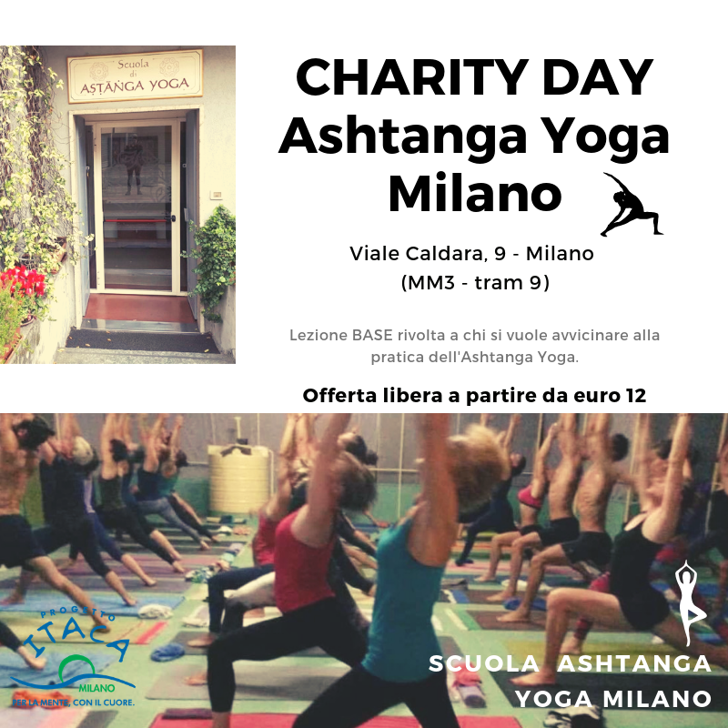 Ashtanga Yoga – Charity Day Progetto Itaca Milano